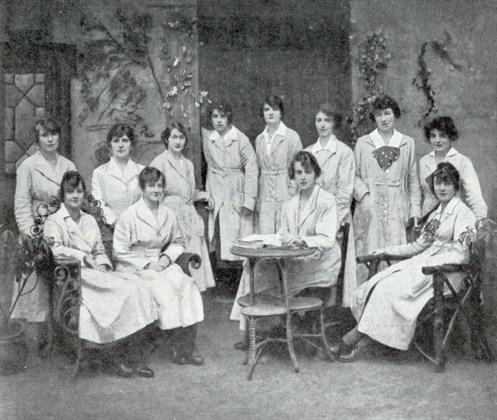 1918 General Accident Swansea Branch Ladies Wearing Gowns . AVIVA.